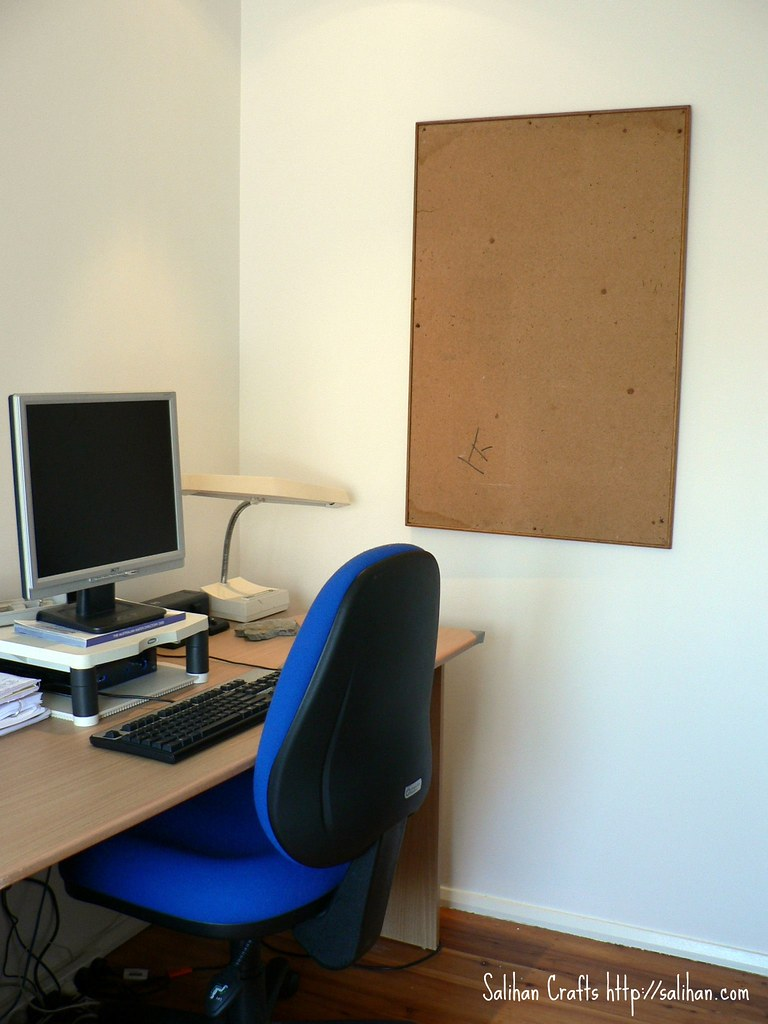 Corkboard Before Makeover