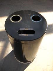 Recycling bin face