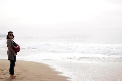 babywearing na praia