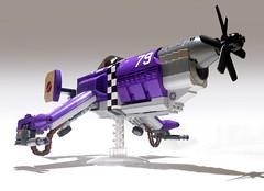 Steel Wind (JonHall18) Tags: plane fighter purple lego aircraft fantasy scifi vehicle moc skyfi dieselpunk dieselpulp