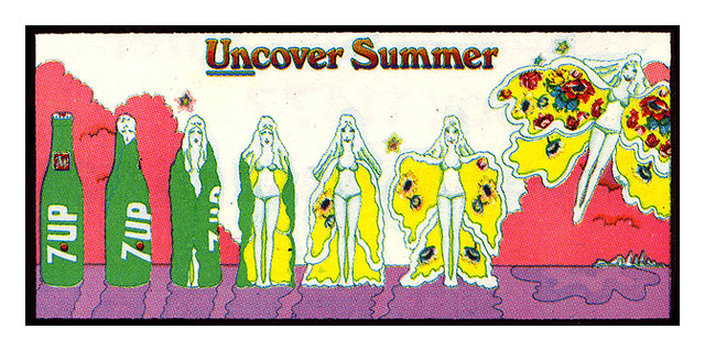 7Up_Uncover Summer_vintage UnCola billboard poster signed by Pat Dypold