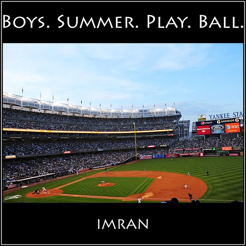 Freeze Frame! Boys (of) Summer, Play Ball! - IMRAN™ — 300+ Views!  (Click Pic To See Ball Midway In Midair) by ImranAnwar