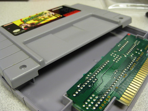 Inside an SNES cartridge