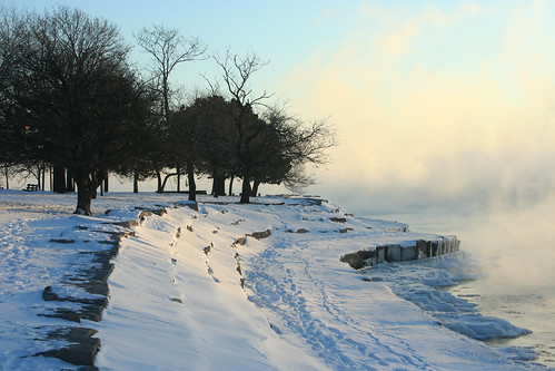 Promontory Point on a Sub-Zero Day
