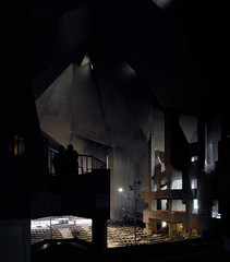 gottfried bhm, architect: maria knigin des friedens pilgrimage church, neviges, germany 1963-1972 (seier+seier) Tags: light church arquitetura architecture modern germany concrete deutschland arquitectura darkness interior space creative modernism kirche commons chiesa cc german expressionism expressionist architektur pilgrimage architettura eglise gottfried brutalism architectuur modernist beton brutalist boehm brut mariendom bhm wallfahrtskirche gottfriedbhm wallfahrtsdom nevigeser seierseier
