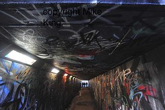 On scene in London with Harry Brown film (mikekingphoto) Tags: cameraphone london film underpass subway happy hoodie fight gun estate crack crime graffitti drug actor kicking thug cocaine slapping harrybrown londonist