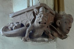 Corbel, St Margaret of Antioch - Crick