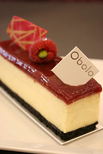 Framboise-Vanille: Cheesecake with raspberry glaze