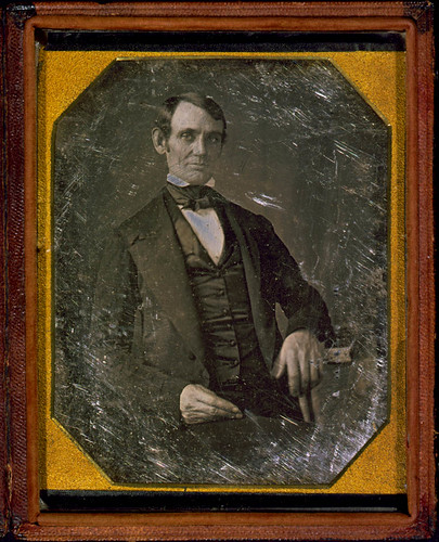 [Abraham Lincoln, Congressman-elect from Illinois. Three-quarter length portrait, seated, facing front] (LOC) by The Library of Congress.