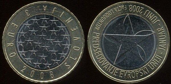 3 euro Slovenia 2008
