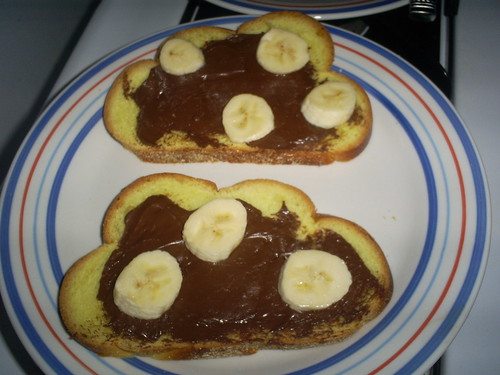 Nutella & Banana-Stuffed Challah French Toast
