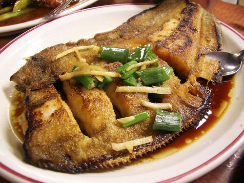 pan fried flounder @ hop kee