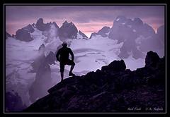 Red Tusk Contemplation (Maclobster) Tags: red peak glacier climbing lydia range tusk tantalus keithgrajala