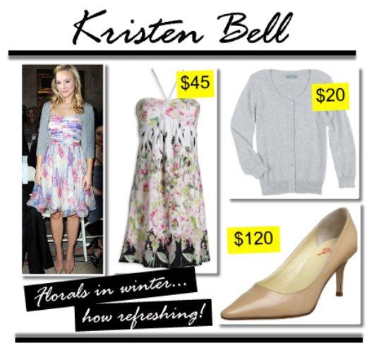 Kristen Bell in florals