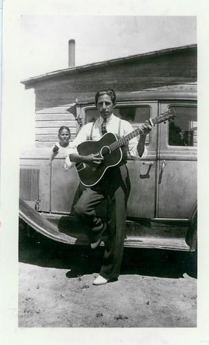 boy guitar car