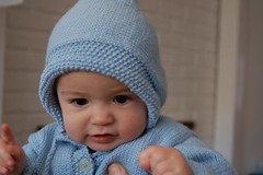 Baby Cabled Cardigan - Free Knitting Pattern: