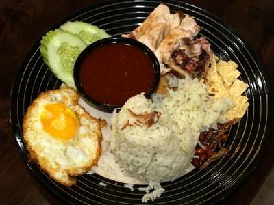 Chicken nasi lemak