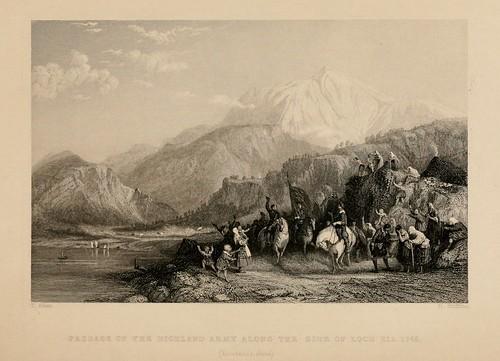 015- Paso del ejercito de las Highland a lo largo del lago Eil  en 1745