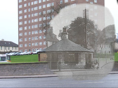 then in now barrhead road toll booth (Dave S Campbell) Tags: old white black glasgow southside then now blend pollokshaws barrhead