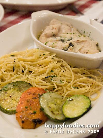 pesci in vinoblanco (fish fillet in white wine)