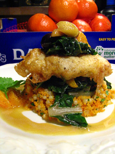 Monkfish with Tangerine Almond Sauce