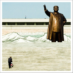 Let's go to pay respect to Eternal President Kim Il Sung - North Korea (Eric Lafforgue) Tags: pictures travel statue stairs photo war asia respect propaganda hill picture korea explore kimjongil asie coree journalist journalists northkorea escaliers  dprk coreadelnorte juche kimilsung nordkorea 1086 lafforgue mansudae  ericlafforgue  aise  coredunord mansu coreadelnord  northcorea coreedunord rdpc  insidenorthkorea  rpdc   coriadonorte  kimjongun coreiadonorte