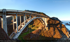 Rocky Creek Bridge, Monterey (Christopher Chan) Tags: california bridge panorama usa canon monterey suspension highway1 northamerica montereycounty 1022mm pacificcoast 30d rockycreekbridge snaptweet