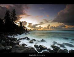 Another View ([ Kane ]) Tags: city longexposure sky sun beach water clouds rocks explore qld kane tweed gledhill burleighheads alemdagqualityonlyclub kanegledhill vosplusbellesphotos humanhabits kanegledhillphotography