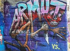 die krise (werner.mossig) Tags: vienna blue monster graffiti blade crisis krise donaukanal armut deflation