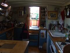 kitchen. New ceramic sink, lots of storage cupboards etc. (tobybutler) Tags: for sale houseboat httpapolloducknet97734