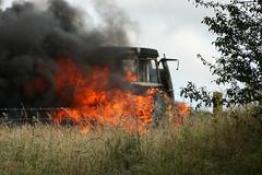 Bont-goch Tractor on fire! (Bontgoch) Tags: tractor fire mf ferguson massey masseyferguson bontgoch tractorfire