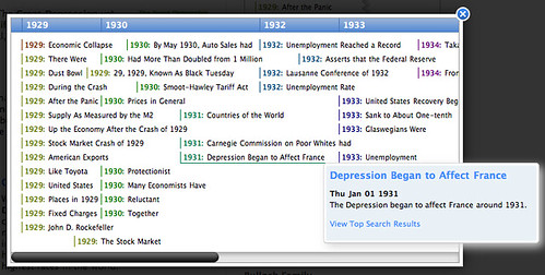 Cuil Timeline Search