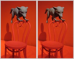 Denver Art Museum (CrossView 3D) (patrick.swinnea) Tags: art museum stereoscopic stereophoto 3d crosseye colorado denver fox crossview xview sandyskoglund