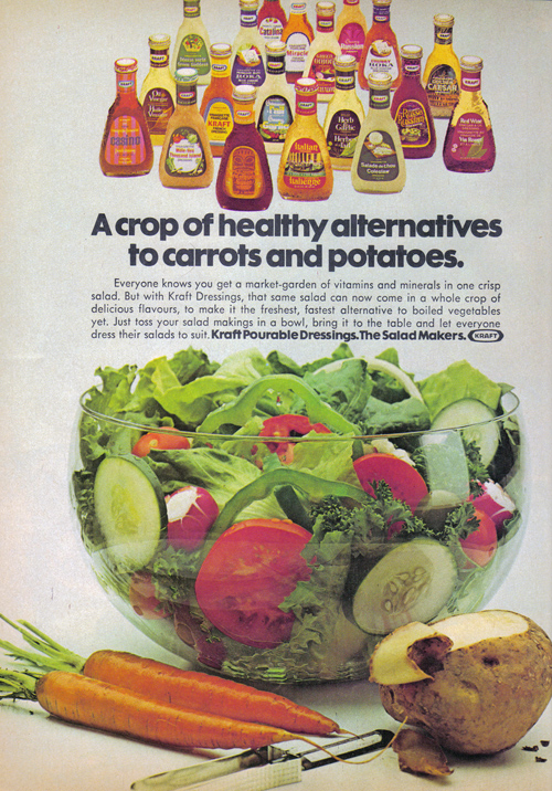 Vintage Ad #847: A Crop of Healthy Alternatives to Go With Kraft Dressings