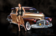 Root Beer Float .... (Rat Rod Studios) Tags: girls 1948 chevy hotrod rootbeer hotrodart