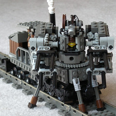 Steam Wreckage Train Mk. XXXVII (operator) (aillery) Tags: train war lego military great machine steam machines wreckage steampunk