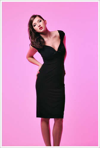 Pink Background Full Length Studio Look-Book Fashion Photography