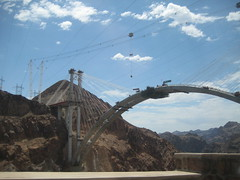 Bypass Bridge over Hoover Dam in progress