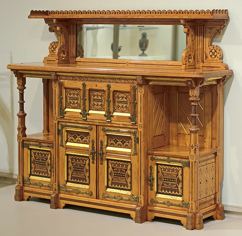 Wood cabinet, by Charles Bevan, made by Marsh and Jones, Leeds, England, ca. 1865, at the Saint Louis Art Museum, in Saint Louis, Missouri, USA