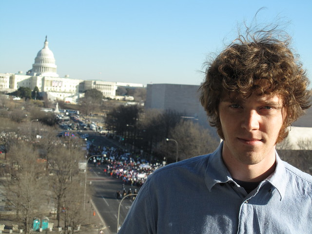 Matthew Hurst looking towards the Capitol along Pennsylvania Ave in DC