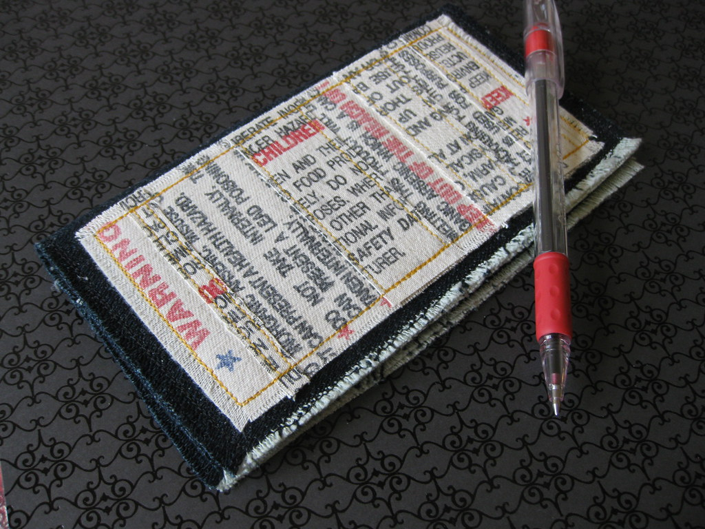 Warning Labels Checkbook Cover or Billfold