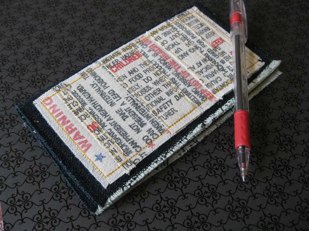 Warning Labels Checkbook Cover or Billfold