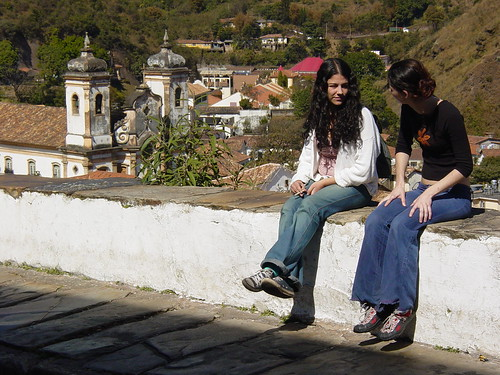 Young Women Chat on the Street - Ouro Preto - Minas Gerais - Brazil