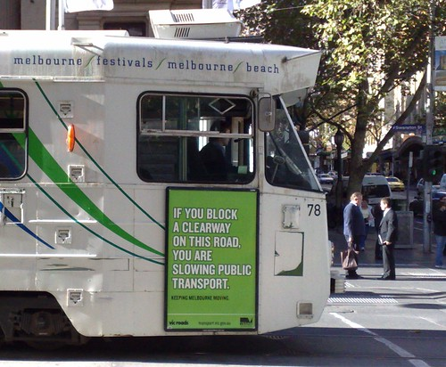 Public transport Clearway advertising