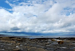 Shower on the Horizon (Gaz-zee-boh) Tags: ireland sea sky seascape rain shower seaside rocks shoreline shore coclare 5photosaday catchycolorblue nikond40 almostanything liscannorbay