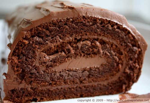 Rocambole de chocolate (sem farinha - gluten free)