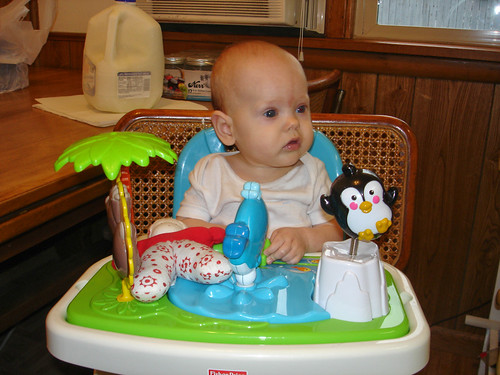 second time in her high chair