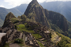 The Inca city Machu Picchu in Peru