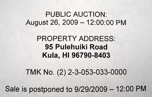 Fair Warning Wednesday foreclosure auction
