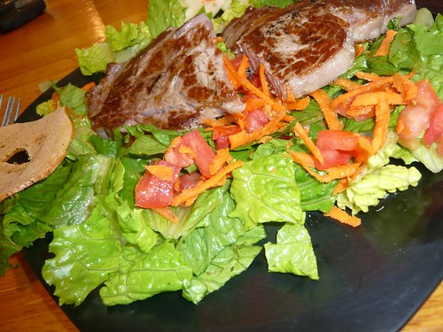 Steak salad at Cafe Strudel.